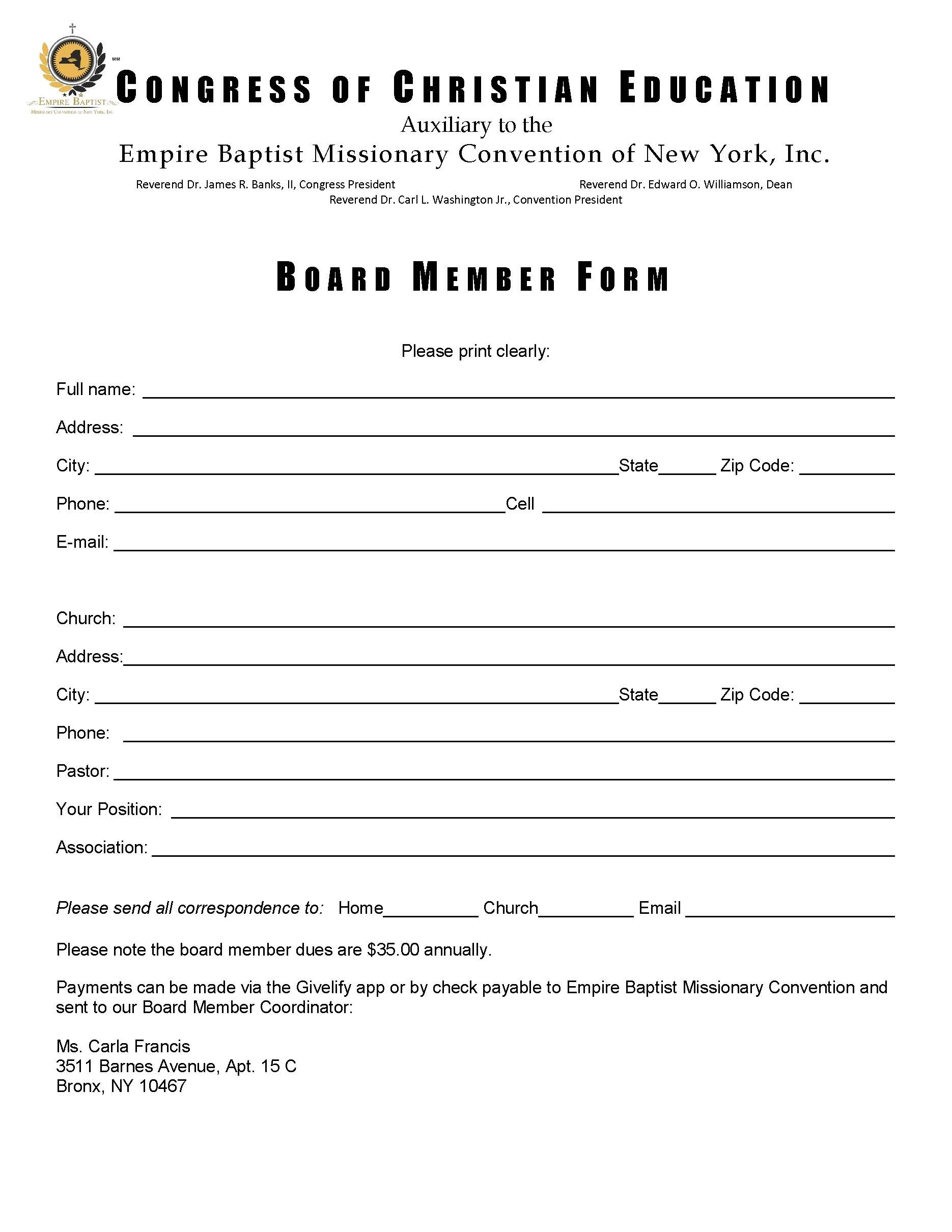 Congress – Empire Baptist Missionary Convention